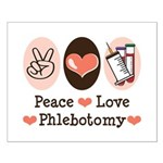 Peace Love Phlebotomy Small Poster