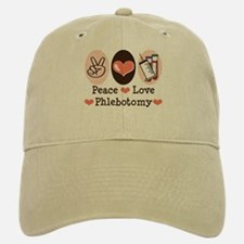 Peace Love Phlebotomy Baseball Baseball Cap