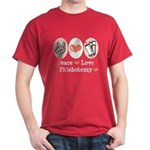 Peace Love Phlebotomy Dark T-Shirt
