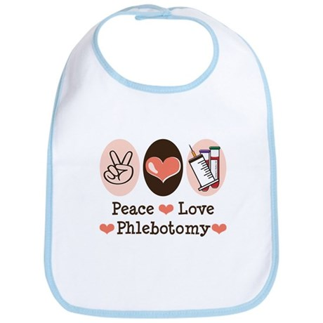 Peace Love Phlebotomy Bib