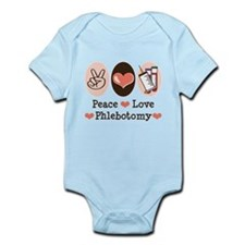 Peace Love Phlebotomy Infant Bodysuit