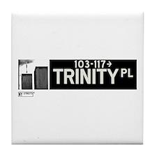 Trinity Place in NY Tile Coaster