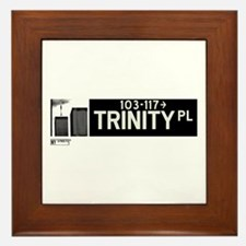 Trinity Place in NY Framed Tile