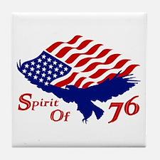 Spirit of 76! USA Patriotic Tile Coaster
