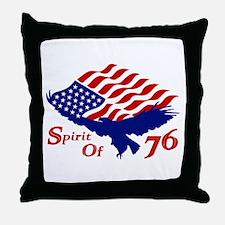 Spirit of 76! USA Patriotic Throw Pillow