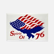 Spirit of 76! USA Patriotic Rectangle Magnet