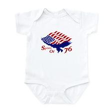 Spirit of 76! USA Patriotic Infant Bodysuit