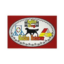 Golden Retriever Agility Rectangle Magnet (100 pac