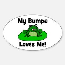 My Bumpa Loves Me! Oval Decal