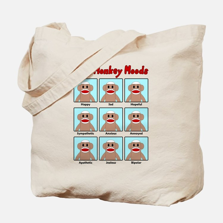 Sock Monkey Moods Tote Bag