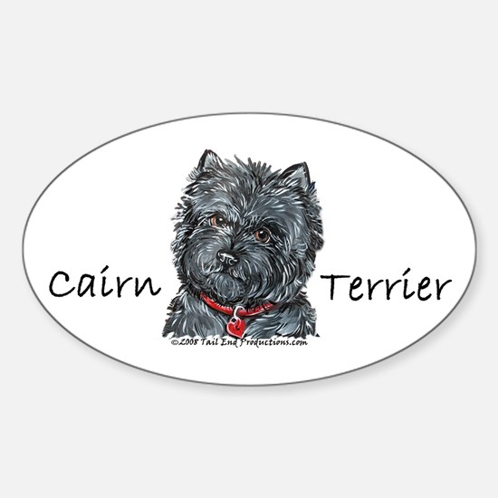 Cairn Terrier Best Friend Oval Decal