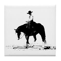 trail horse Tile Coaster