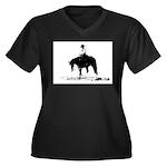 trail horse Women's Plus Size V-Neck Dark T-Shirt