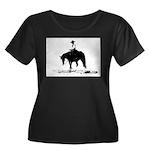trail horse Women's Plus Size Scoop Neck Dark T-Sh