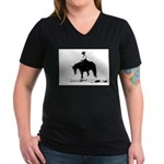 trail horse Women's V-Neck Dark T-Shirt