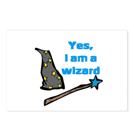 Yes, I am a wizard Postcards (Package of 8)