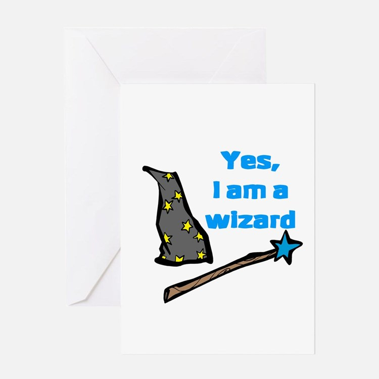 Yes, I am a wizard Greeting Card