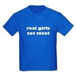 Real Girls Eat Meat Kids Colored T-Shirt