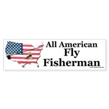 All American Fly Fisherman Bumper Bumper Sticker