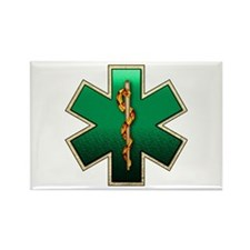 Star of Life(Emerald) Rectangle Magnet