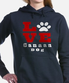 Love Canaan Dog Designs Women's Hooded Sweatshirt