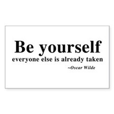 Oscar Wilde - Be Yourself Rectangle Decal