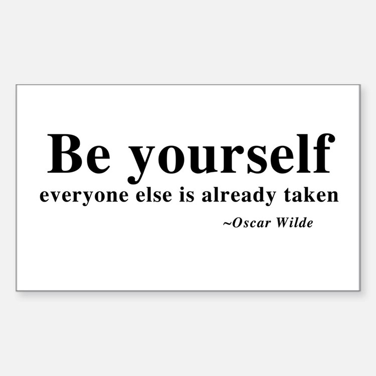 Oscar Wilde - Be Yourself Rectangle Decal