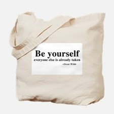 Oscar Wilde - Be Yourself Tote Bag