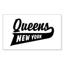 Queens New York Rectangle Decal