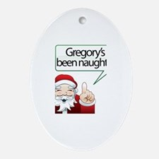 Gregory's Been Naughty Oval Ornament
