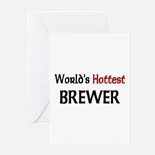 World's Hottest Brewer Greeting Cards (Pk of 10)