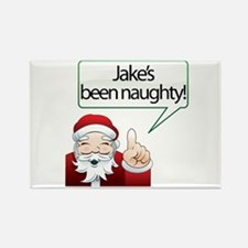 Jake's Been Naughty Rectangle Magnet