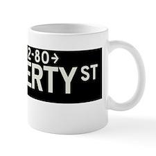 Liberty Street in NY Small Mug