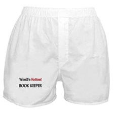 World's Hottest Book Keeper Boxer Shorts