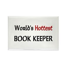 World's Hottest Book Keeper Rectangle Magnet