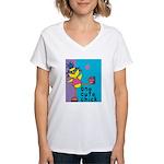 1 cute chick Women's V-Neck T-Shirt