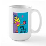 1 cute chick Large Mug