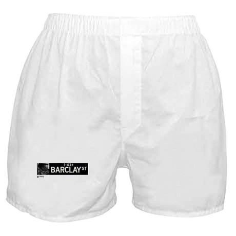 Barclay Street in NY Boxer Shorts
