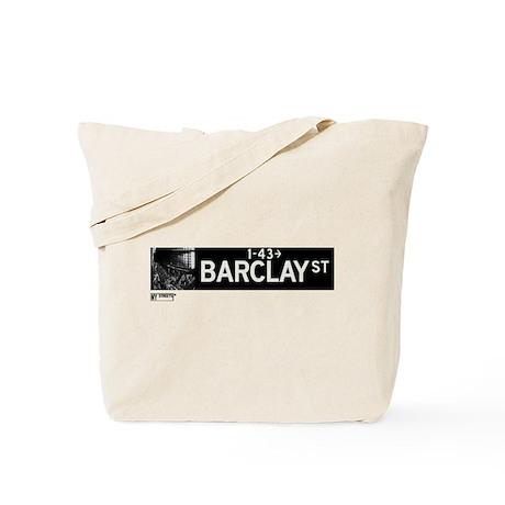 Barclay Street in NY Tote Bag