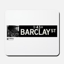 Barclay Street in NY Mousepad