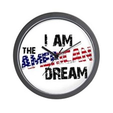 I Am The American Dream Wall Clock