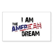 I Am The American Dream Rectangle Decal