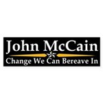 John McCain: Change We Can Bereave In