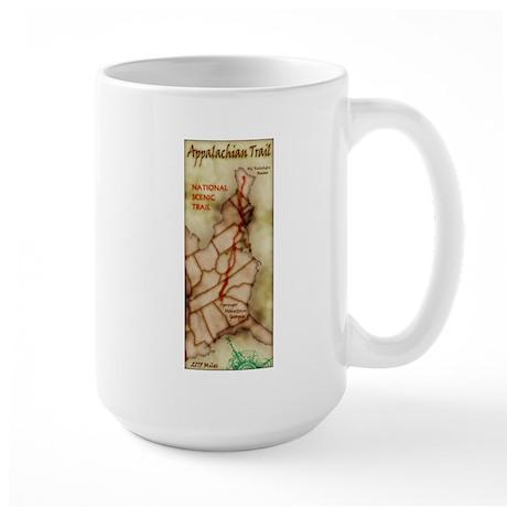 Appalachian Trail Vert. Antique Large Mug
