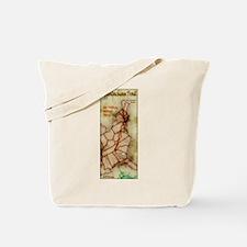 Appalachian Trail Vert. Antique Tote Bag