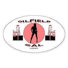 Oilfield Gal Oval Bumper Stickers