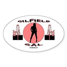 Oilfield Gal Oval Decal