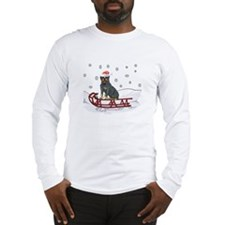 Sledding Rottweiler Long Sleeve T-Shirt
