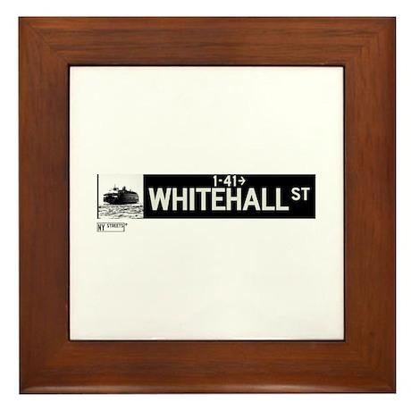 Whitehall Street in NY Framed Tile