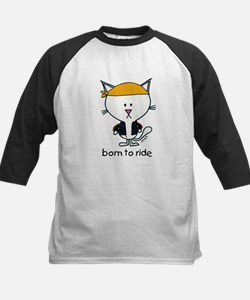 """born to ride"" biker cat Tee"